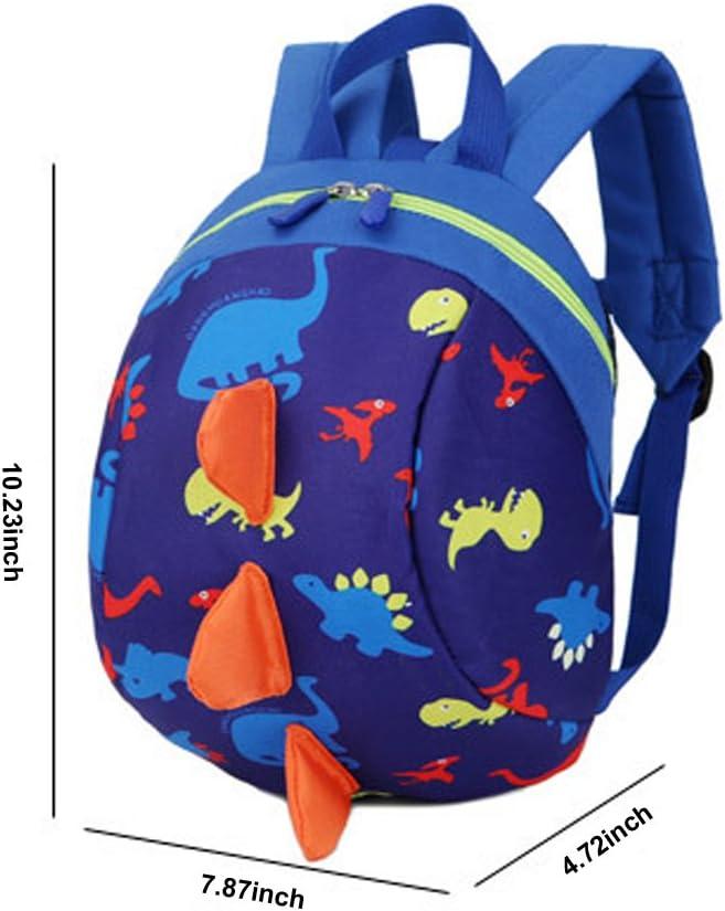 Green DafenQ Cute 3D Cartoon Baby Toddlers Backpack Nursery Kindergarten Book Bag Kids Harness Bag with Safety Reins Belt for Boys Girls