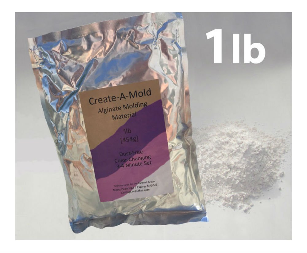 1lb Create-A-Mold Chromatic ALGINATE MOLDING POWDER Material Life Casting Gel