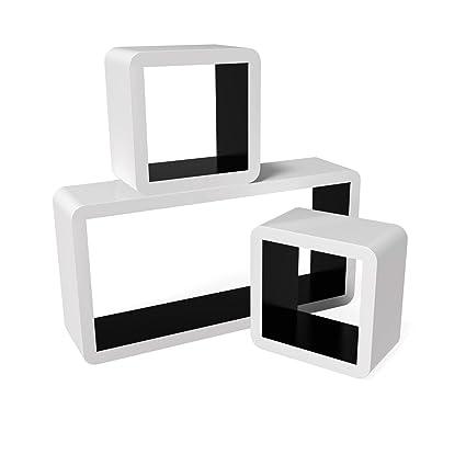 Songmics LWS92B 3er Set Wandregal Lounge Cube Regal, MDF Holz ...