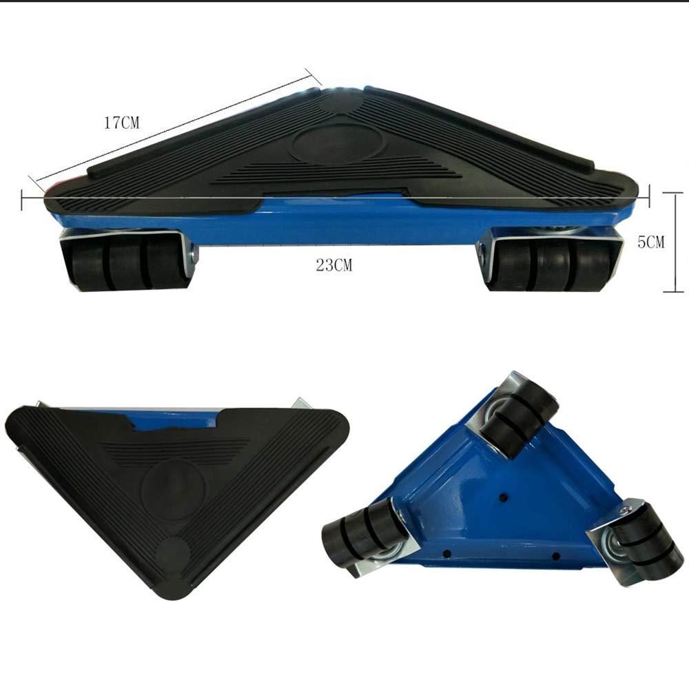 Blu Sollevatore Di Mobili Sposta Ruote Scorrevoli Con Tripla Ruota Kit Di Attrezzi Sistema Mobile Di Traslazione Adatto Per Divani Divani E Frigoriferi