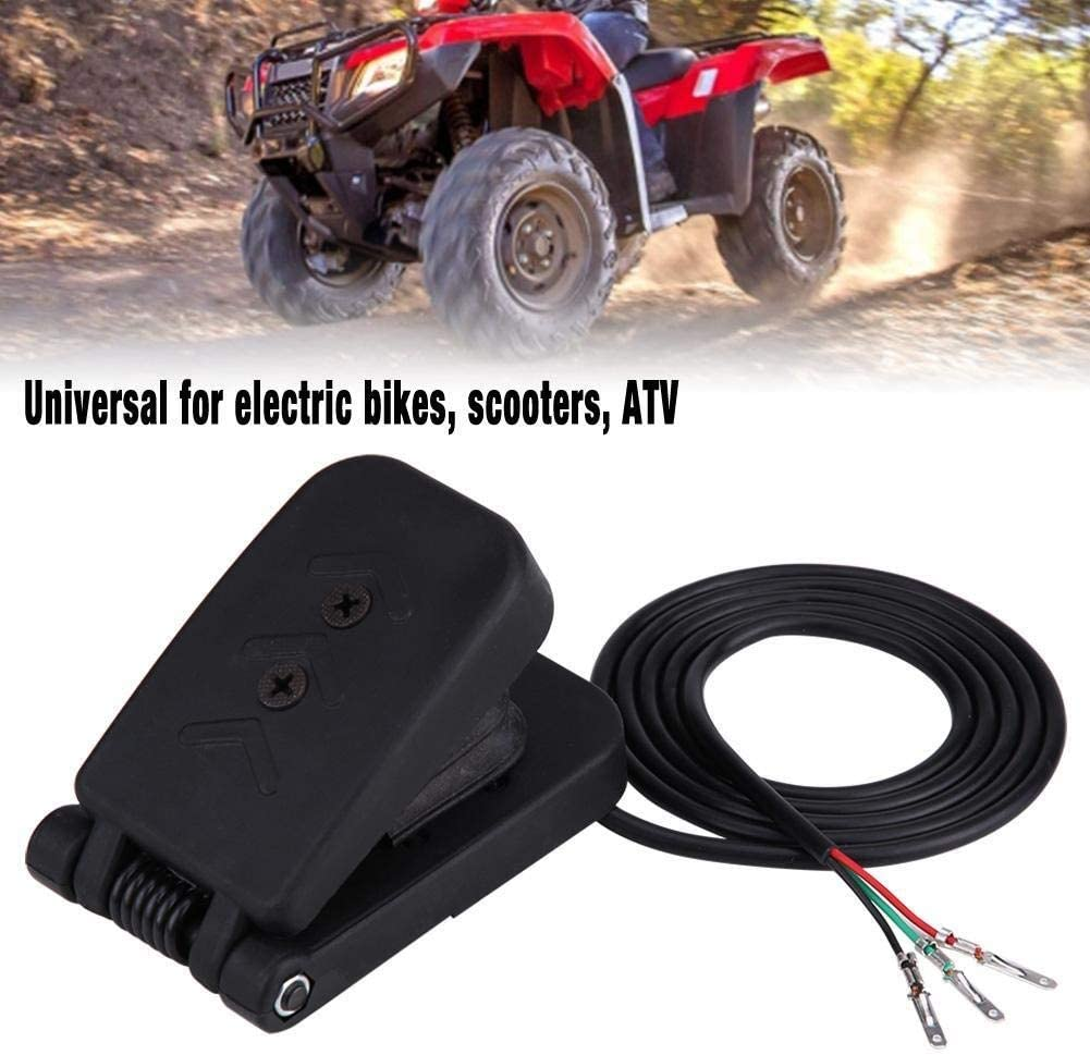 Broco Schwarz Kunststoff ATV Fu/ßgas Drosselklappen Speed Control Bremspedal