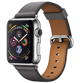 Bracelets de Montre en Cuir pour Apple Watch série 4 40MM Montres connectées Femme