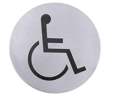 Contacto Puerta de acero inoxidable Símbolo silla de ruedas