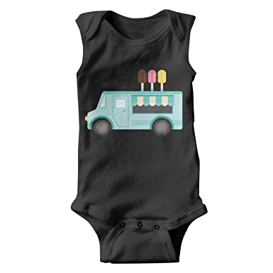 e78a59c56 SNB WY Blue ice Cream Truck Baby Onesies Jumpsuits Organic Blue Ice Cream-1  Funny