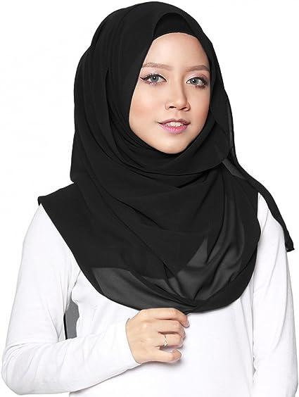 Gyratedream Hijab Schal Lange Kopftuch Frauen Muslimische Feste Schals Chadors Arabien Islamische Gebet Kleid Muslimische Kleidung Hijab Kleider Frauen Muslim Bats-Fl/ügelh/ülsen Kleid Hijab