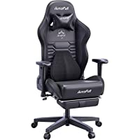 AutoFull Gaming Chair Office Chair Desk Chair with Ergonomic Lumbar Support, Racing Style PU Leather PC High Back…