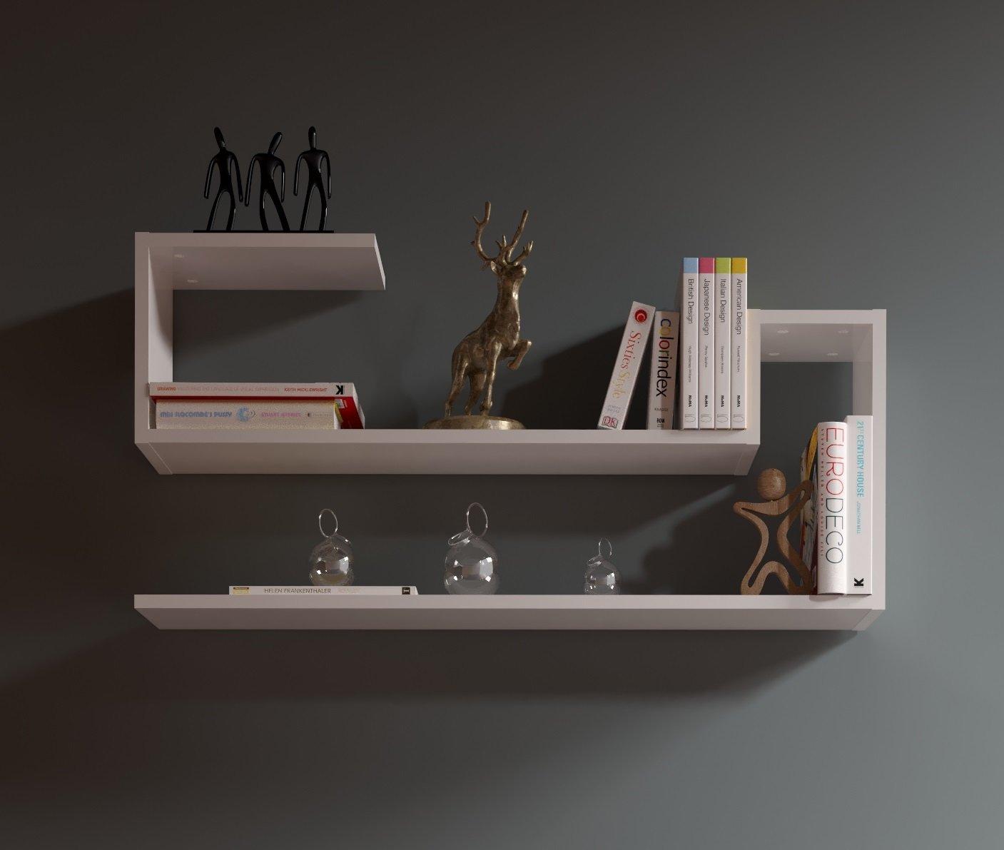 Amato AIRY Mensola da muro - Bianco - Mensola Parete - Mensola Libreria  LF17
