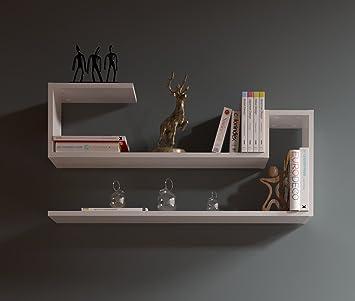 Mensole per cucina moderna mc mensola per tv con ripiano - Porta decoder da parete ...