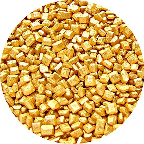 Natural Gold Gluten GMO Nuts Dairy Soy Free Sparkling Sugar Bulk Pack. by Quality Sprinkles (Image #1)
