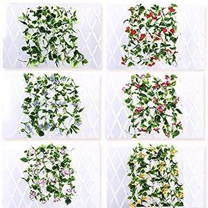 Yatim 2PCS(13FT) Artificial Flowers Ivy Vines Leaf Garland Plants for Hotel Wedding Arch Home Party Garden Craft Art Decor Sunred 4