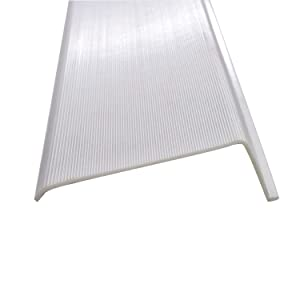 """24"""" Inch Under Cabinet Diffuser White Ribbed Replacement Cover Lens"""