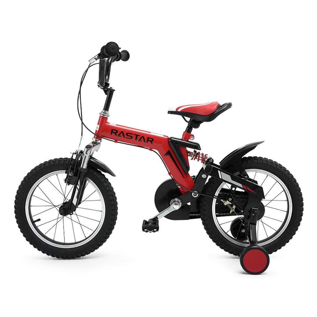 学生自転車自転車少年自転車少女自転車12インチ14インチ16インチ (Color : RED, Size : 14INCHES) 14INCHES RED B07SD3JYL1