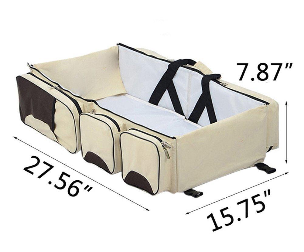 Lvbeis baby wickeltasche mummy reisetasche tragbar krippe klappbar