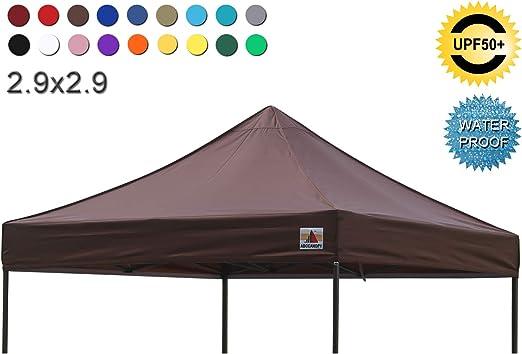 ABCCANOPY - Cubierta superior de repuesto para toldo, 2, 9 x 2, 9 cm, 100% impermeable, elegir más de 18 colores.: Amazon.es: Jardín