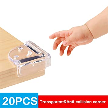 20 Clear Corner Protectors Baby Proofing Corner Guards Furniture Bumpers Table
