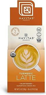 product image for Navitas Organics Turmeric Latte, 3.1 oz, Pouch,10 Single Servings — Organic, Non-GMO, Dairy-Free