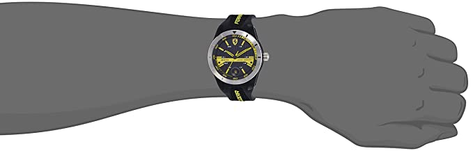 T Analog 0830277 Silikon Herren Scuderia Ferrari Orologi Armbanduhr Quarz Red Rev 8OPwZNnkX0