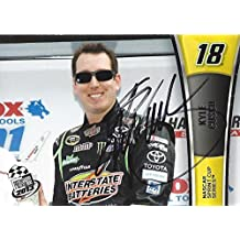 AUTOGRAPHED Kyle Busch 2013 Press Pass Racing (#18 Interstate Batteries Car) DRIVER INTRODUCTIONS Joe Gibbs Team Signed Collectible NASCAR Trading Card with COA