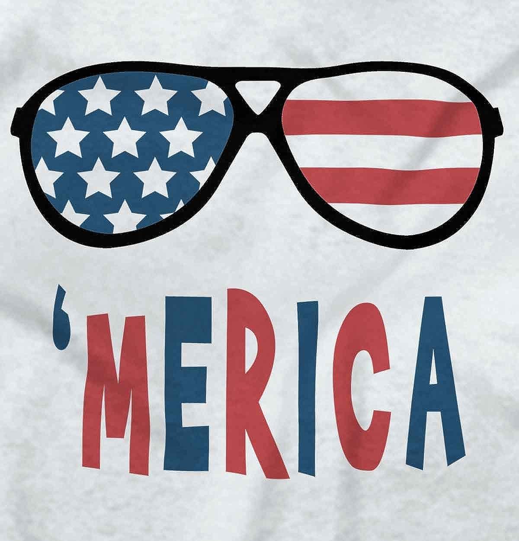 09e18cc66ac Amazon.com  Brisco Brands Funny American Flag Glasses Patriotic Pride  Romper Bodysuit  Clothing