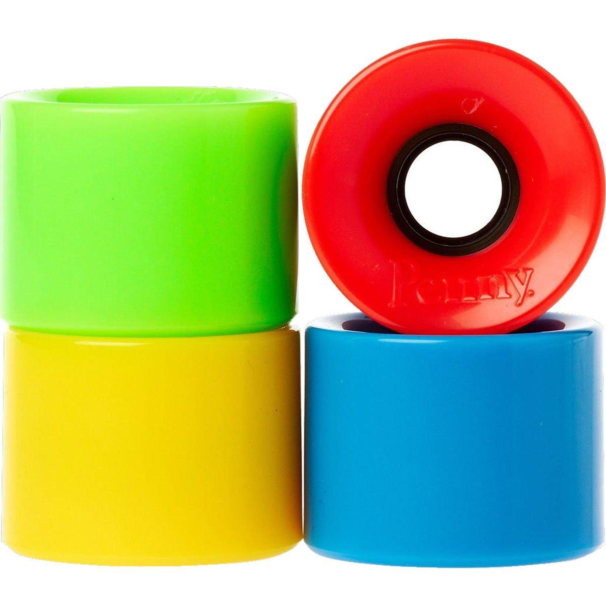 Penny 4-setマルチパックスケートボードホイール、ブルー/グリーン/レッド/イエロー、59 mm   B00DI8INTQ