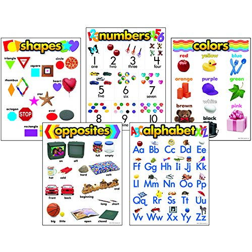 Trend Enterprises Kindergarten Basic Skills Chart Pack, 5/Pkg (T-38920)