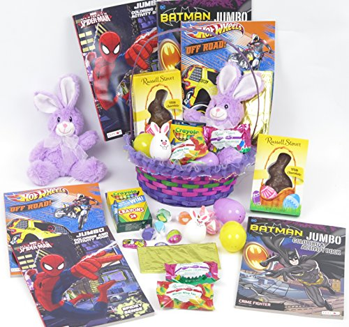 boy super hero easter basket