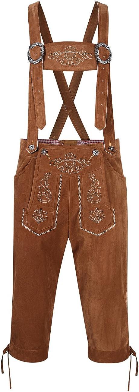 Clearlove Men's German Bavarian Oktoberfest Lederhosen Trousers Costume: Clothing