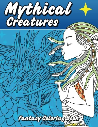 Mythical Creatures Fantasy Coloring Book Beautiful Patterns Designs Adult Books Volume 42 Lilt Kids 9781512219036