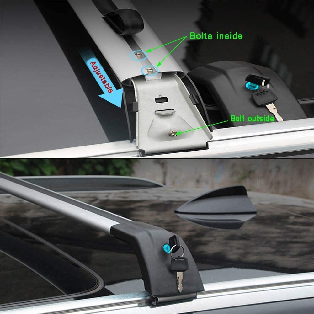 Size : For Volvo Xc90 2015 LLDS Custom Fit For Xc90 Aluminum Alloy Roof Rack Cross Bar Roof Cargo Bars For Xc90