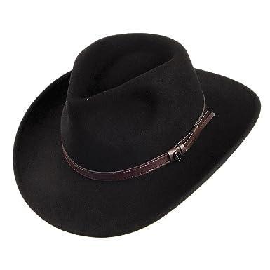 ba6b6845b05ec2 Jaxon & James Crushable Outback Hat - Black: Amazon.co.uk: Clothing