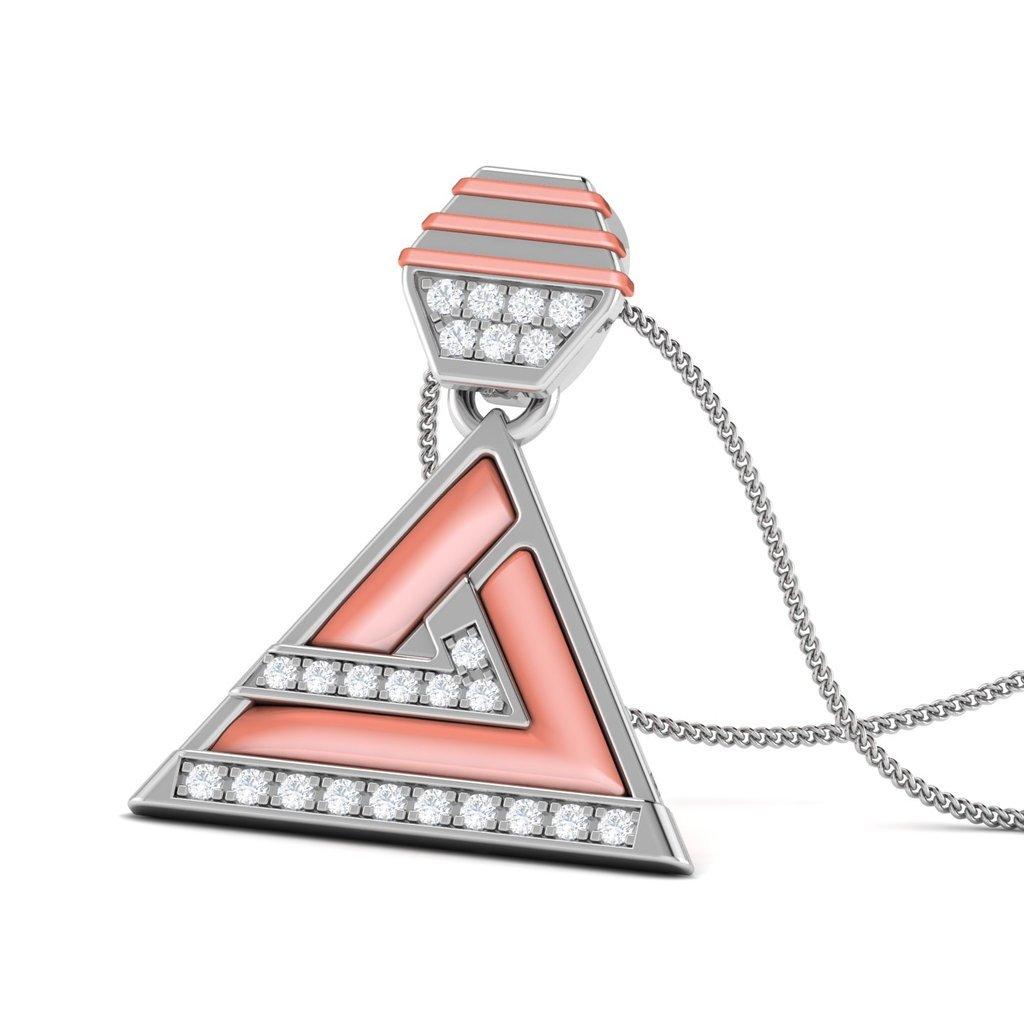 Jenny Jordan 10KT Gold Diamond Shell Pendant by Facets Jewels