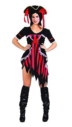 SYMTOP Vestido de Pirata del Caribe Traje Adulto de Mujer ...