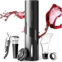 Sacacorchos Eléctrico de Vinos 6 En 1 AutomáTico de Abridor de Vino Eléctrico de Botella de Vino y Accesorios de Acero…