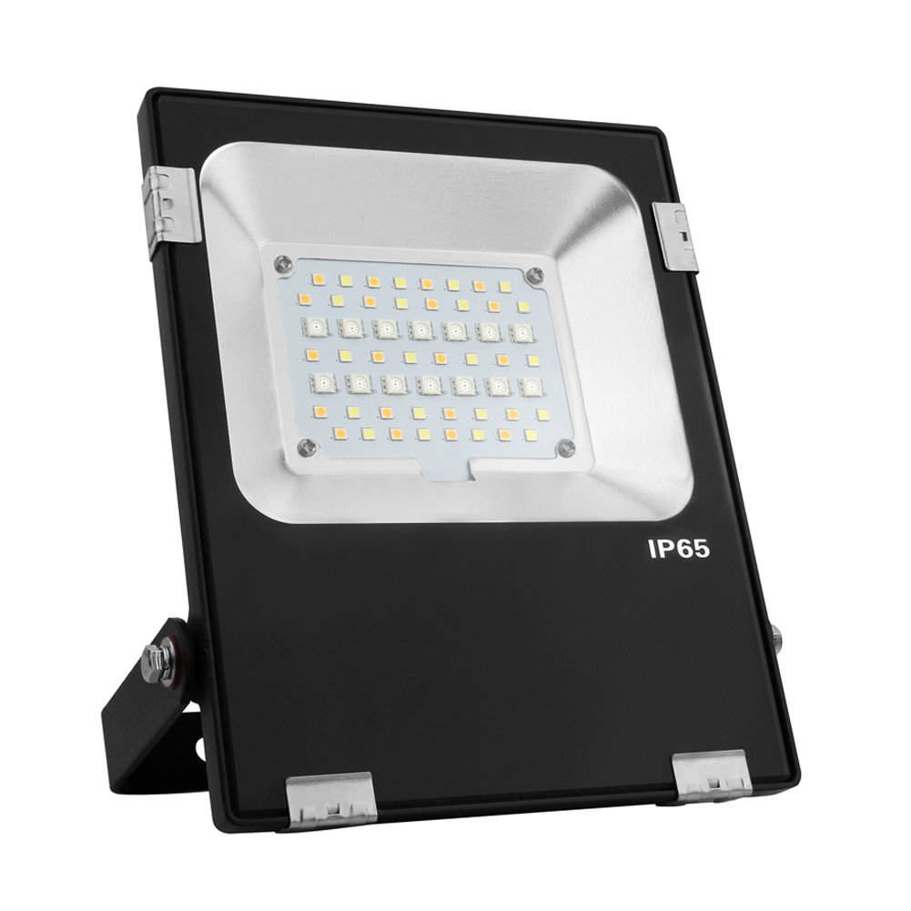 Mi.Light 20W RGB+CCT LED Flood Light AC 85-265V Color Changing 2700K-6500K Color Temperature Adjustable Works with Mi.Light Remote(Not Include) Smartphone Control Via WiFi iBox Hub(Not Include)