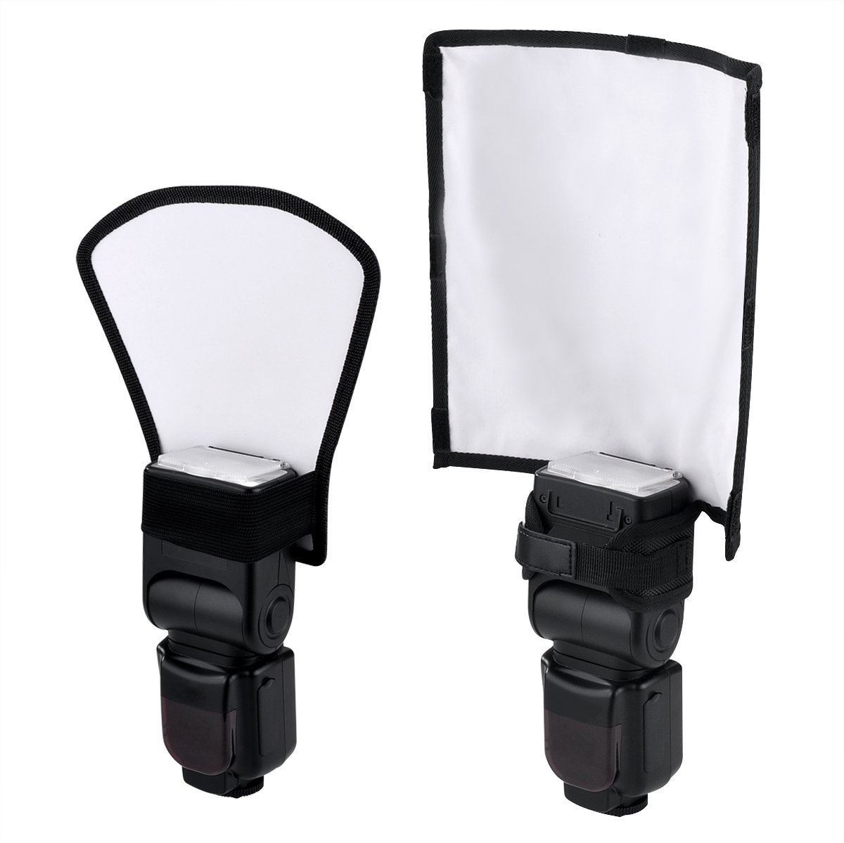 Veatree Flash Diffuser Reflector Kit - Bend Bounce Positionable Diffuser + Silver / White Reflector, Universal Mount for Canon Yongnuo Nikon and Other Speedlight