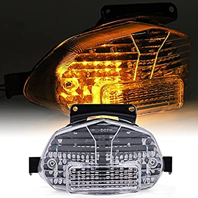 Clear Motorcycle LED Tail Light Brake Turn Signal For 2001-2002 Suzuki GSXR  600/750/1000 Hot