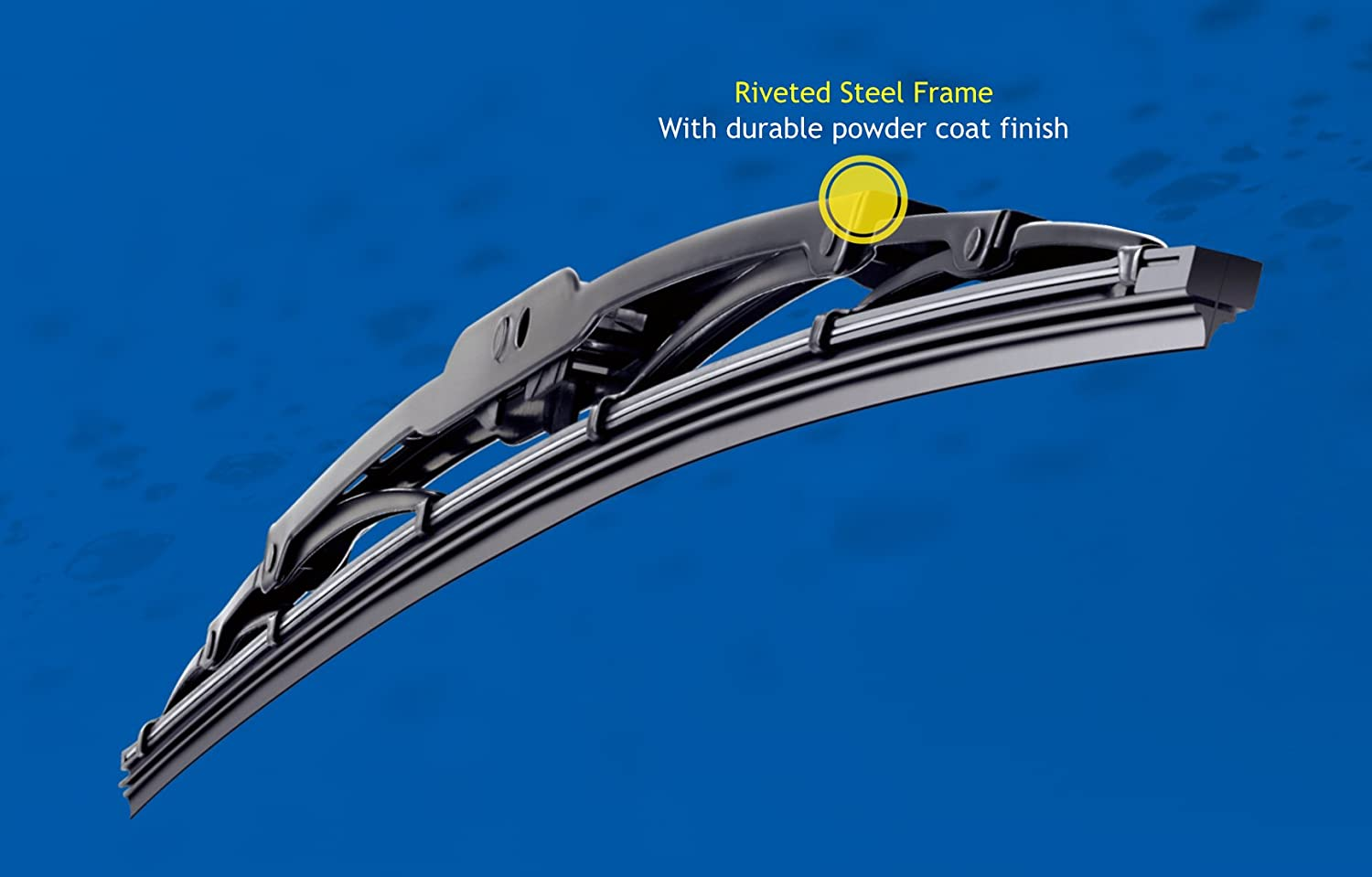 Pack of 1 11 Michelin 3711 RainForce All Weather Performance Windshield Wiper Blade