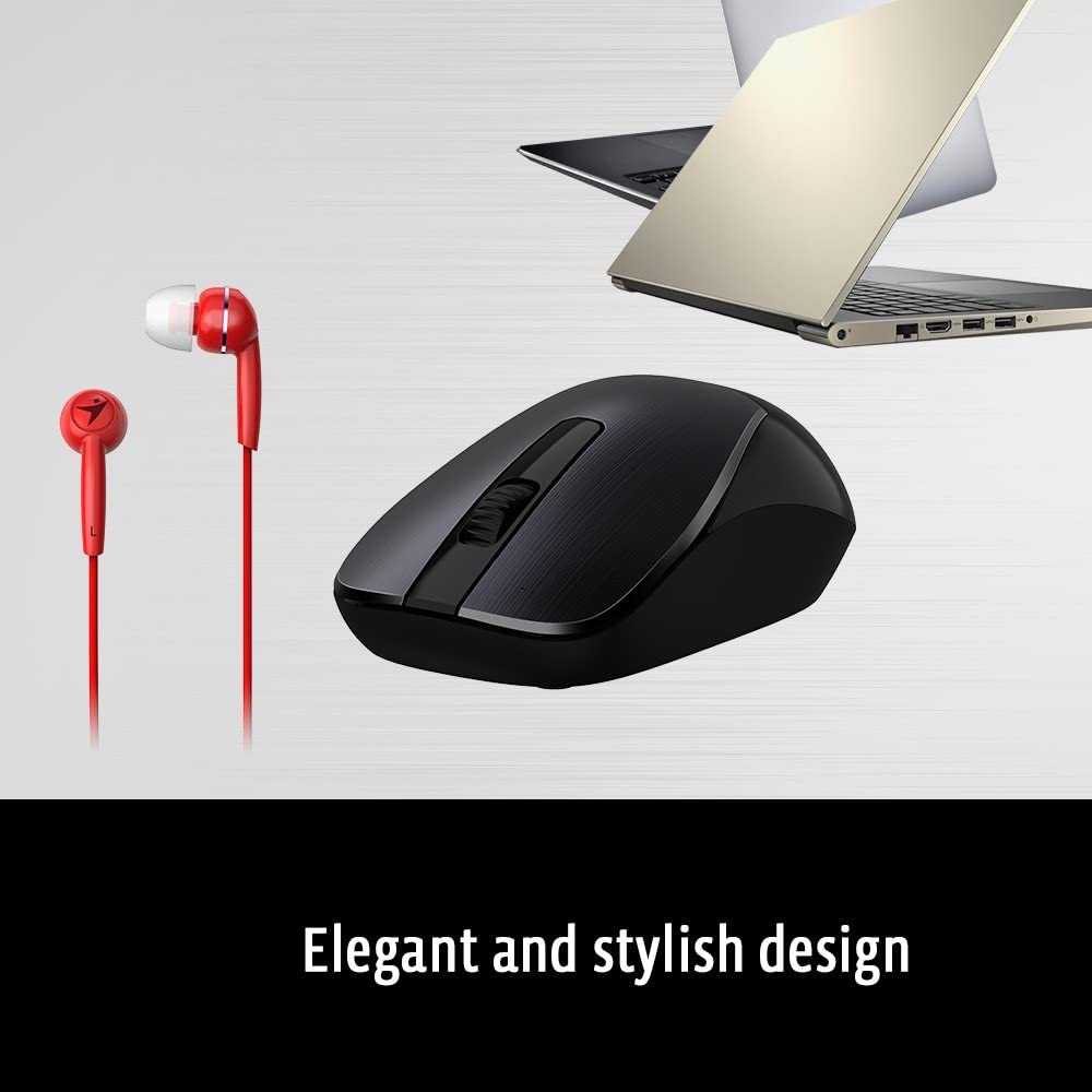- Wireless Smart Mouse /& in-Ear Headset Combo for Mobility Users No Pairing Long Life Rechargeable Battery Genius Mobile Package MH-8015 Coffee Plug /& Play Stylish Brushed Metal Look Business