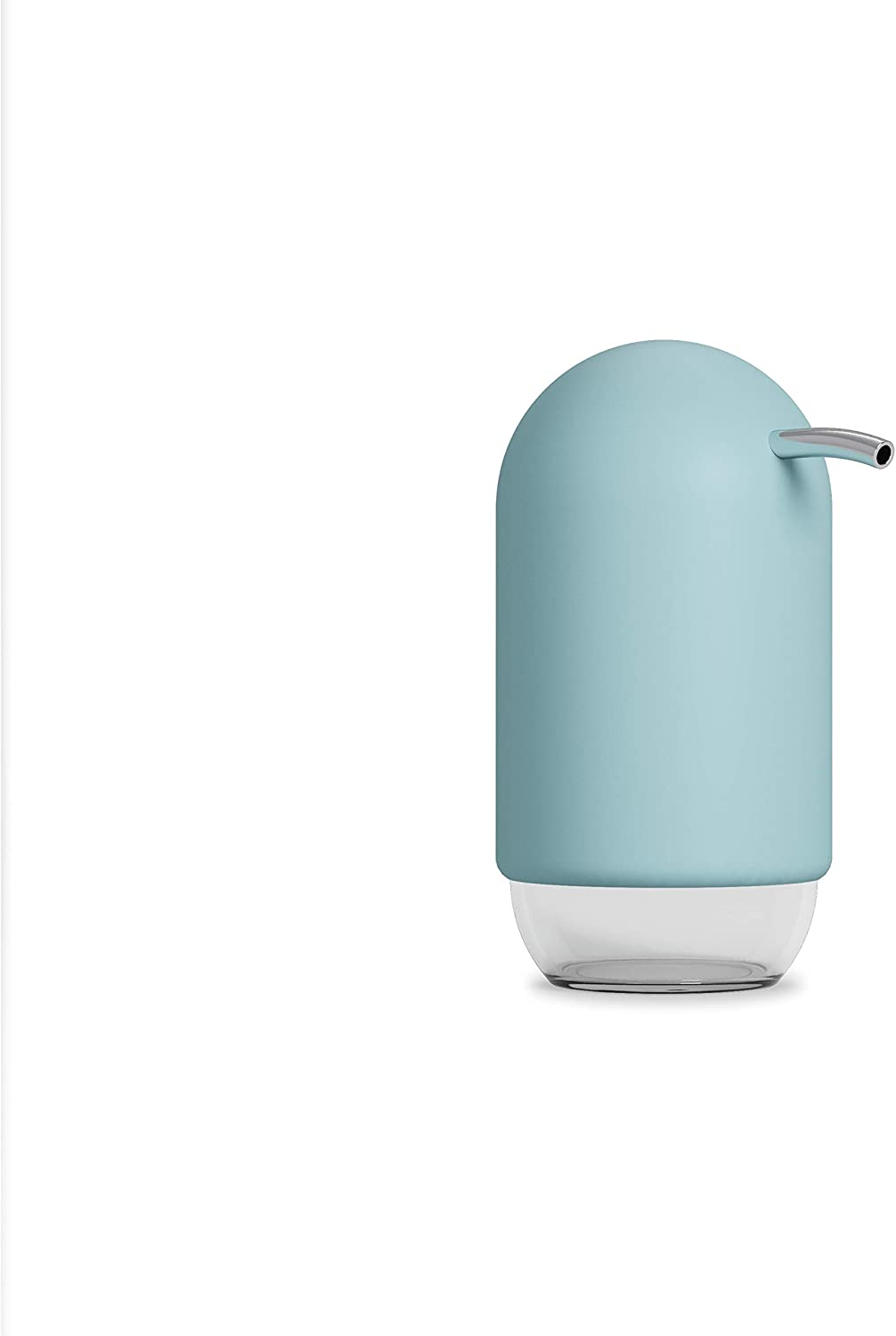 Umbra Touch Liquid Soap Pump Dispenser, Also Works with Hand Sanitizer, Easy to Refill, 8 oz (236.5 ml), Ocean Blue
