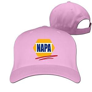 Adult Napa Car Racing Automotive Parts Cotton Adjustable Peaked Baseball Cap Pink