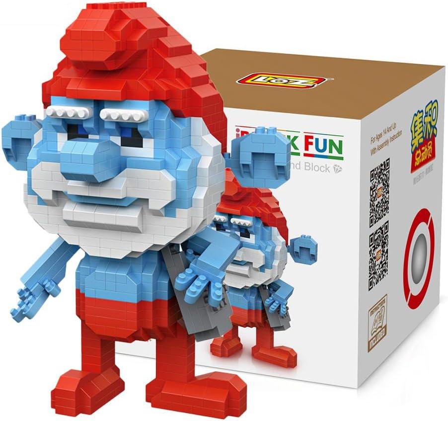 Loz 9756. Kit de construccion miniaturizada. Papa Pitufo. 880 piezas: Amazon.es: Juguetes y juegos