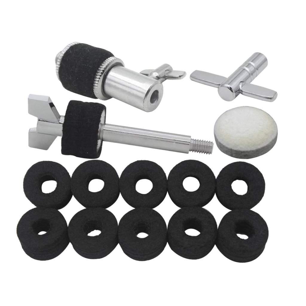 Homyl Durable Hi-hat Cymbal Stand Screw with Tuning Key Hi-hat Clutch for Drum Set Accessories