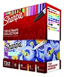 Sharpie Permanent Markers Ultimate Collection, Fine and Ultra Fine Points, Assorted Colors, 72