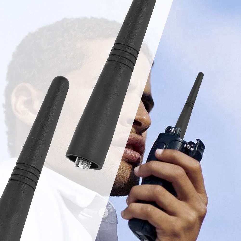 Vbestlife 2pcs Antena UHF 400-470MHZ 9cm para Walkie Talkie Antena para Radio de 3 V/ías Mejora de la Se/ñal