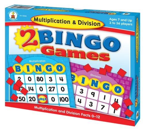 Carson-Dellosa Multiplication & Division Bingo Board Games (140039) Ages 7 and ()
