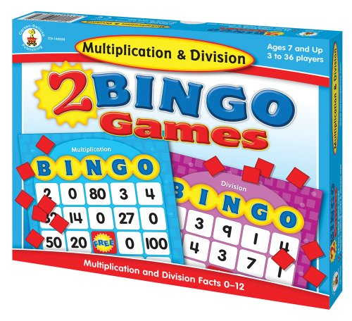 - Carson-Dellosa Multiplication & Division Bingo Board Games (140039) Ages 7 and Up