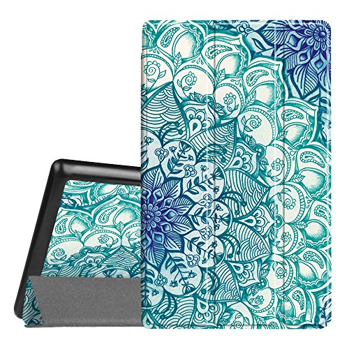 Fintie Slim Case for All-New Amazon Fire HD 8 Tablet (7th Generation, 2017 Release), Ultra Lightweight Slim Shell Standing Cover with Auto Wake / Sleep, Emerald - Hd In One Piece