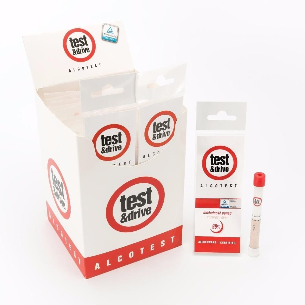 Test & Drive Twin Pack of UK and NF Standards Breathalyser Test Kits