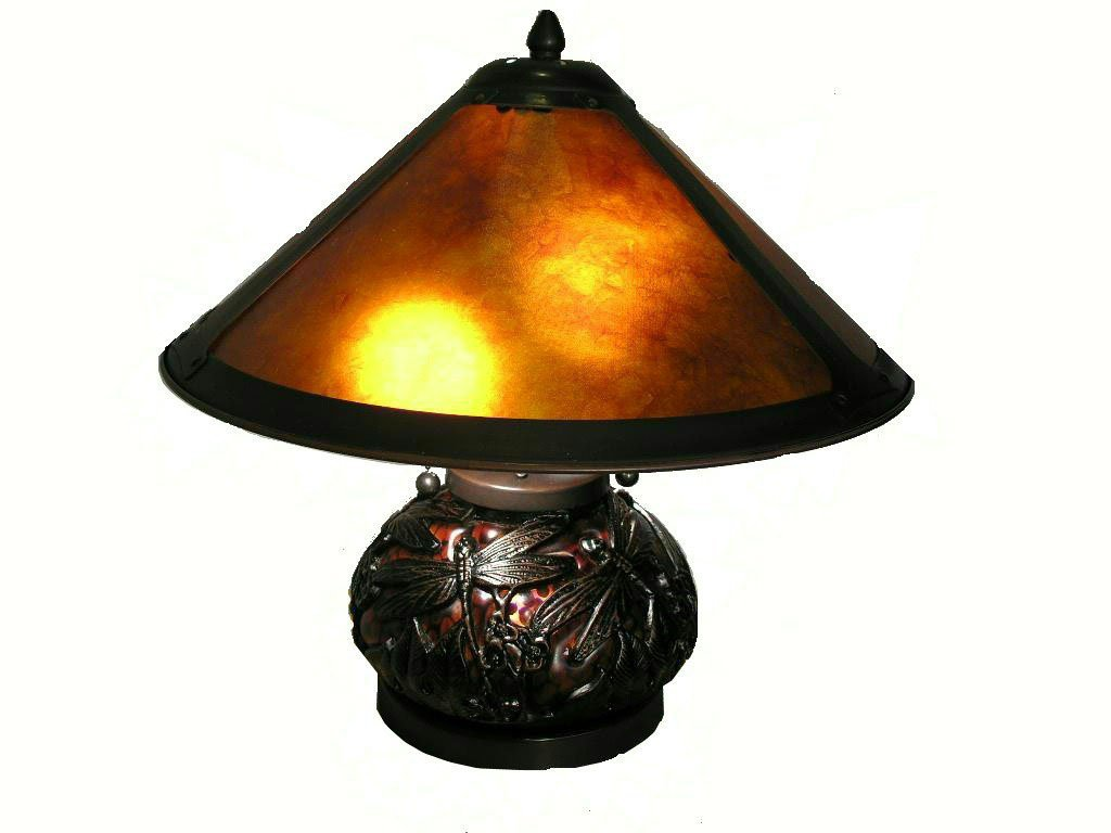 Whse Of Tiffany Wht011 1788 662 Mica Dragonfly Table Lamp With