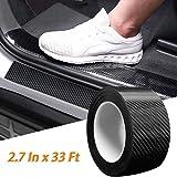 Car Door Edge Guards Door Sill Protector 5D Carbon Fiber Car Wrap Film Vinyl Automotive Wrap Film Car Door Sill Protection Fi